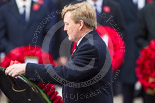 Remembrance Sunday at the Cenotaph 2015: HM The King of the Netherlands walking towards the Cenotaph with his wreath. Image #181, 08 November 2015 11:04 Whitehall, London, UK