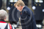 Remembrance Sunday at the Cenotaph 2015: HM The King of the Netherlands at the Cenotaph after laying his wreath. Image #182, 08 November 2015 11:04 Whitehall, London, UK