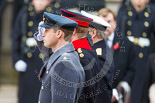 Remembrance Sunday at the Cenotaph 2015: HRH The Duke of Cambridge, HRH Prince Harry, and HRH The Duke of York, saluting after laying their wreaths at the Cenotaph. Image #194, 08 November 2015 11:05 Whitehall, London, UK