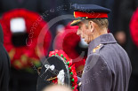 Remembrance Sunday at the Cenotaph 2015: HRH The Duke of Kent after receiving his wreath. Image #198, 08 November 2015 11:05 Whitehall, London, UK