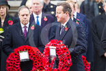 Remembrance Sunday at the Cenotaph 2015: The Prime Minister, David Cameron, walking with his wreath toward the Cenotaph. Image #202, 08 November 2015 11:06 Whitehall, London, UK