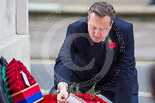 Remembrance Sunday at the Cenotaph 2015: The Prime Minister, David Cameron, laying his wreath at the Cenotaph. Image #207, 08 November 2015 11:06 Whitehall, London, UK