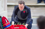Remembrance Sunday at the Cenotaph 2015: The Prime Minister, David Cameron, laying his wreath at the Cenotaph. Image #208, 08 November 2015 11:06 Whitehall, London, UK