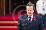 Remembrance Sunday at the Cenotaph 2015: The Prime Minister, David Cameron, after laying his wreath at the Cenotaph. Image #210, 08 November 2015 11:06 Whitehall, London, UK