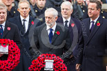 Remembrance Sunday at the Cenotaph 2015: The leader of the opposition, Jeremy Corbyn, starts walking towards the Cenotaph with his wreath. Image #211, 08 November 2015 11:06 Whitehall, London, UK