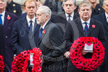 Remembrance Sunday at the Cenotaph 2015: The leader of the opposition, Jeremy Corbyn, walking towards the Cenotaph with his wreath. Image #212, 08 November 2015 11:06 Whitehall, London, UK