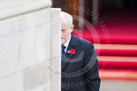 Remembrance Sunday at the Cenotaph 2015: The leader of the opposition, Jeremy Corbyn, after laying his wreath at the Cenotaph. Image #213, 08 November 2015 11:07 Whitehall, London, UK