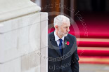 Remembrance Sunday at the Cenotaph 2015: The leader of the opposition, Jeremy Corbyn, after laying his wreath at the Cenotaph. Image #214, 08 November 2015 11:07 Whitehall, London, UK