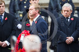 Remembrance Sunday at the Cenotaph 2015: The Leader of the Liberal Democrats, Tim Fallon, walking towards the Cenotaph with his wreath. Image #216, 08 November 2015 11:07 Whitehall, London, UK