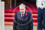 Remembrance Sunday at the Cenotaph 2015: The Westminster Democratic Unionist Party Leader, Nigel Dodds, after laying his wreath at the Cenotaph. Image #221, 08 November 2015 11:08 Whitehall, London, UK