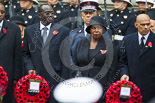 Remembrance Sunday at the Cenotaph 2015: The High Commissioner of Kenya, the High Commissioner of Uganda, and the Acting High Commissioner of Trinidad and Tobago. Image #226, 08 November 2015 11:09 Whitehall, London, UK