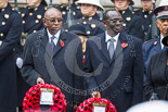 Remembrance Sunday at the Cenotaph 2015: The High Commissioner of Malawi and the High Commissioner of Kenya. Image #227, 08 November 2015 11:09 Whitehall, London, UK