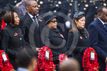 Remembrance Sunday at the Cenotaph 2015: The High Commissioner of Lesotho, the Charge D'Affaires of Botswana, the High Commissioner of Guyana, and the High Commissioner of Singapore. Image #229, 08 November 2015 11:09 Whitehall, London, UK