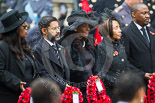 Remembrance Sunday at the Cenotaph 2015: The High Commissioner of Swaziland, the High Commissioner of Mauritius, the Deputy High Commissioner  of Barbados, and the High Commissioner of Lesotho. Image #230, 08 November 2015 11:09 Whitehall, London, UK