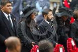 Remembrance Sunday at the Cenotaph 2015: The Acting High Commissioner of Tonga, High Commissioner of Swaziland, the High Commissioner of Mauritius, and the Deputy High Commissioner  of Barbados. Image #231, 08 November 2015 11:09 Whitehall, London, UK