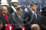 Remembrance Sunday at the Cenotaph 2015: The High Commissioner of Bangladesh, the High Commissioner of Fiji, and the Acting High Commissioner of Tonga. Image #232, 08 November 2015 11:09 Whitehall, London, UK