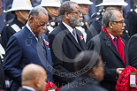Remembrance Sunday at the Cenotaph 2015: The High Commissioner of Grenada, the High Commissioner of The Bahamas, and the High Commissioner of Fiji. Image #233, 08 November 2015 11:09 Whitehall, London, UK
