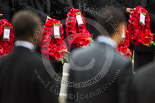 Remembrance Sunday at the Cenotaph 2015: The wreaths carried by the High Commissioners standing at the Cenotaph. Image #236, 08 November 2015 11:09 Whitehall, London, UK