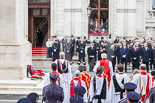 Remembrance Sunday at the Cenotaph 2015: The choir and the politicians at the Cenotaph as the High Commissioners lay their wreaths. Image #239, 08 November 2015 11:10 Whitehall, London, UK