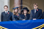 Remembrance Sunday at the Cenotaph 2015: Guests watching the ceremony from one of the balconies of the Foreign- and Commonwealth Office. Image #256, 08 November 2015 11:11 Whitehall, London, UK