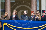 Remembrance Sunday at the Cenotaph 2015: Guests watching the ceremony from one of the balconies of the Foreign- and Commonwealth Office. Image #257, 08 November 2015 11:11 Whitehall, London, UK