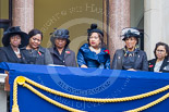 Remembrance Sunday at the Cenotaph 2015: Guests watching the ceremony from one of the balconies of the Foreign- and Commonwealth Office. Image #259, 08 November 2015 11:11 Whitehall, London, UK