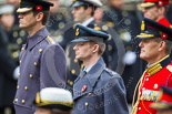 Remembrance Sunday at the Cenotaph 2015: Wing Commander Sam Fletcher, RAF, Equerry to The Queen. Image #264, 08 November 2015 11:12 Whitehall, London, UK