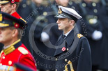 Remembrance Sunday at the Cenotaph 2015: Lieutenant Commander James Benbow, Royal Navy, equerry to Prince William. Image #267, 08 November 2015 11:12 Whitehall, London, UK