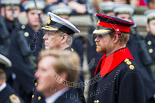 Remembrance Sunday at the Cenotaph 2015: HRH The Duke of York. Next to him, out of focus, HRH Prince Henry of Wales, in front HM The King of the Netherlands. Image #268, 08 November 2015 11:12 Whitehall, London, UK