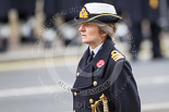 Remembrance Sunday at the Cenotaph 2015: Commander Anne Sullivan, RN, the Equerry to HRH The Princess Royal. Image #277, 08 November 2015 11:14 Whitehall, London, UK