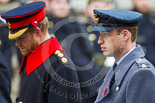 Remembrance Sunday at the Cenotaph 2015: HRH The Duke of Cambridge and behind him HRH Prince Henry of Wales. Image #287, 08 November 2015 11:14 Whitehall, London, UK