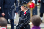 Remembrance Sunday at the Cenotaph 2015: HM The Queen during the service at the Cenotaph. Image #298, 08 November 2015 11:17 Whitehall, London, UK