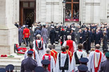 Remembrance Sunday at the Cenotaph 2015: After the official ceremont, the Royal Family and all the other participants move back into the Foreign- and Commonwealth Office. Image #316, 08 November 2015 11:19 Whitehall, London, UK