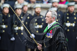 Remembrance Sunday at the Cenotaph 2015: The Serjeant of the Vestry, David Baldwin, on the way back to the Foreign- and Commonwealth Office. Image #319, 08 November 2015 11:20 Whitehall, London, UK