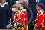 Remembrance Sunday at the Cenotaph 2015: The choir on the way back to the Foreign- and Commonwealth Office. Image #323, 08 November 2015 11:21 Whitehall, London, UK