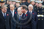Remembrance Sunday at the Cenotaph 2015: The Prime Minister, David Cameron, and the official leader of the opposition, Jeremy Corbyn, on the way back to the Foreign- and Commonwealth Office. Image #324, 08 November 2015 11:21 Whitehall, London, UK
