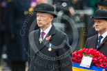Remembrance Sunday at the Cenotaph 2015: Vice  Admiral  Peter  Wilkinson, President of the Royal British Legion. Image #325, 08 November 2015 11:22 Whitehall, London, UK
