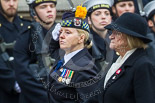 Remembrance Sunday at the Cenotaph 2015: On the right Jan Harvey, Chair of the Board of Trustees of  Royal British Legion Scotland, on the left Margaret Brown, the Angus and Perthshire Area Secretary. Image #347, 08 November 2015 11:27 Whitehall, London, UK