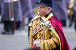 Remembrance Sunday at the Cenotaph 2015: Drum Major Stephen Staite, Grenadier Guards. Image #352, 08 November 2015 11:29 Whitehall, London, UK