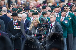 Remembrance Sunday at the Cenotaph 2015: The BBC Steadycam operator ready to film the veterans for the live broadcast during the March Past. Image #355, 08 November 2015 11:32 Whitehall, London, UK