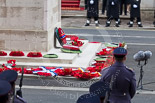 Remembrance Sunday at the Cenotaph 2015: After the March Past - wreaths at the Cenotaph. Image #359, 08 November 2015 12:24 Whitehall, London, UK