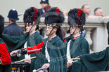 Remembrance Sunday at the Cenotaph 2015: Members of the Pipes and Drums leaving Whitehall after the event. Image #365, 08 November 2015 12:31 Whitehall, London, UK