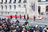 Remembrance Sunday at the Cenotaph 2015: After the March Past - another group at the Cenotaph to lay their wreaths. Image #370, 08 November 2015 12:38 Whitehall, London, UK