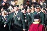 March Past, Remembrance Sunday at the Cenotaph 2016: A02 Royal Green Jackets Association. Cenotaph, Whitehall, London SW1, London, Greater London, United Kingdom, on 13 November 2016 at 12:38, image #18