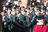 March Past, Remembrance Sunday at the Cenotaph 2016: A02 Royal Green Jackets Association. Cenotaph, Whitehall, London SW1, London, Greater London, United Kingdom, on 13 November 2016 at 12:38, image #20