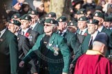 March Past, Remembrance Sunday at the Cenotaph 2016: A02 Royal Green Jackets Association. Cenotaph, Whitehall, London SW1, London, Greater London, United Kingdom, on 13 November 2016 at 12:38, image #21