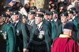 March Past, Remembrance Sunday at the Cenotaph 2016: A02 Royal Green Jackets Association. Cenotaph, Whitehall, London SW1, London, Greater London, United Kingdom, on 13 November 2016 at 12:38, image #22