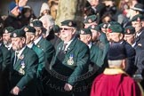 March Past, Remembrance Sunday at the Cenotaph 2016: A02 Royal Green Jackets Association. Cenotaph, Whitehall, London SW1, London, Greater London, United Kingdom, on 13 November 2016 at 12:38, image #24