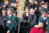 March Past, Remembrance Sunday at the Cenotaph 2016: A02 Royal Green Jackets Association. Cenotaph, Whitehall, London SW1, London, Greater London, United Kingdom, on 13 November 2016 at 12:38, image #26