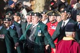 March Past, Remembrance Sunday at the Cenotaph 2016: A02 Royal Green Jackets Association. Cenotaph, Whitehall, London SW1, London, Greater London, United Kingdom, on 13 November 2016 at 12:38, image #29